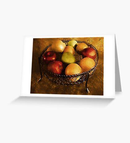Fresh Fruit Fresco Greeting Card
