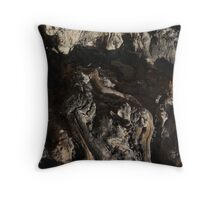 Wood Root Landscape 001 Throw Pillow