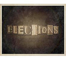 Vintage Elections Typography Photographic Print