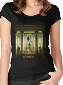 Local church in the evening Derry Ireland Women's Fitted Scoop T-Shirt