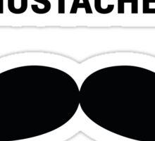 FREE MUSTACHE RIDES Sticker