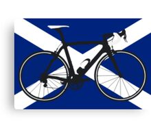 Bike Flag Scotland (Big - Highlight) Canvas Print