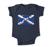 Bike Flag Scotland (Big - Highlight) One Piece - Short Sleeve