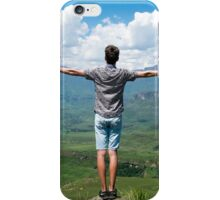 man carrying clouds iPhone Case/Skin