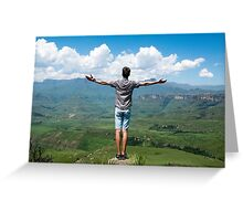 man carrying clouds Greeting Card