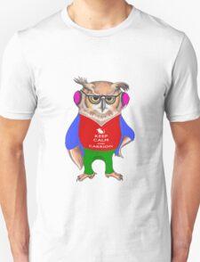 Hipster Owl - Keep Calm Unisex T-Shirt