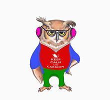Hipster Owl - Keep Calm Men's Baseball ¾ T-Shirt