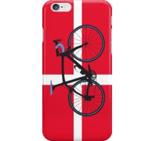 Bike Flag Denmark (Big - Highlight) iPhone Case/Skin