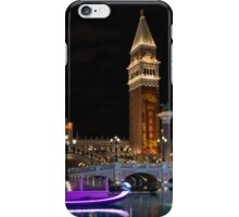 Lighting Up the Night in Neon - Colorful Canals and Gondolas at the Venetian Las Vegas iPhone Case/Skin