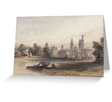 William Callow, R.W.S. (Greenwich  Great Missenden)   Cleaning the nets, Rouen, France Greeting Card