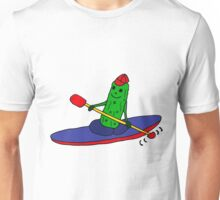 Funny and Cool Kayaking Pickle Unisex T-Shirt