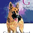 G is for German Shepherd by Ludwig Wagner