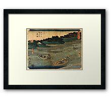 Mitsuke - Hiroshige Ando - c1850 - woodcut Framed Print