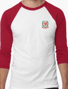 New WALES FOOTBALL TEAM Kit 2016 Men's Baseball ¾ T-Shirt