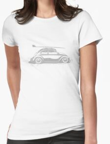 Surf VW Beetle Womens Fitted T-Shirt