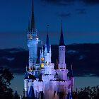 Cinderella's Castle at Dusk (phone case) by Mark Fendrick