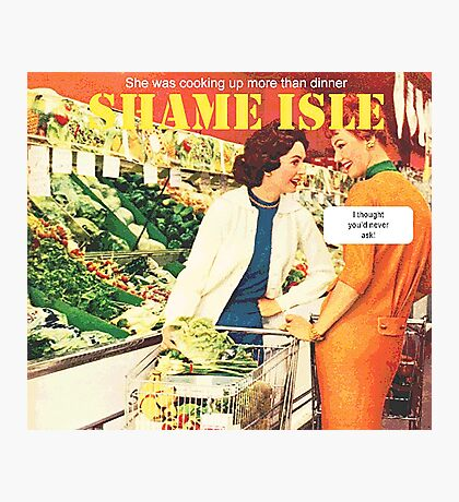Shame Isle Retro Spoof Humor Cooking up more than dinner Photographic Print