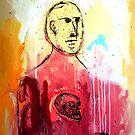 HOMBRE SIN PIEL CON UN CRANEO INCRUSTADO EN EL PECHO (Skinless man with a skull in his chest) by Alvaro Sánchez