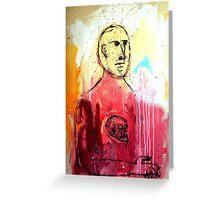 HOMBRE SIN PIEL CON UN CRANEO INCRUSTADO EN EL PECHO (Skinless man with a skull in his chest) Greeting Card
