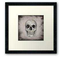 Grunge Skull Framed Print
