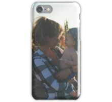 Woman holds her child iPhone Case/Skin