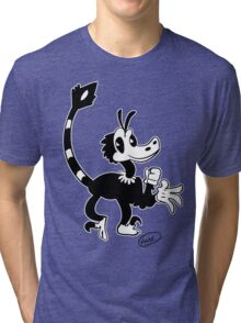 Old Timey Toon 'Raptor Tri-blend T-Shirt