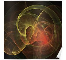 Abstract Art Magic Flame Poster