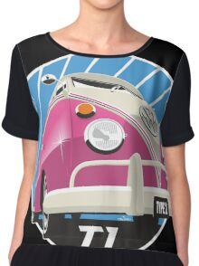 VW Type 2 Transporter T1 pink Chiffon Top