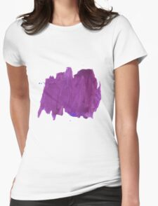 Handmade Abstract Watercolor Texture  Womens Fitted T-Shirt
