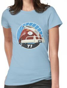 VW Type 2 Transporter T1 red Womens Fitted T-Shirt