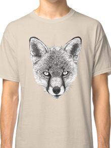 Fox Head Ink Drawing Classic T-Shirt