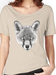 Fox Head Ink Drawing Women's Relaxed Fit T-Shirt