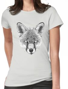 Fox Head Ink Drawing Womens Fitted T-Shirt