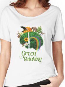 Green Thinking - love of Nature   Pensamiento en verde - amor por la Naturaleza Women's Relaxed Fit T-Shirt