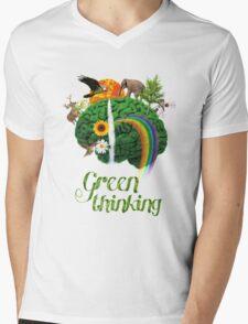 Green Thinking - love of Nature | Pensamiento en verde - amor por la Naturaleza Mens V-Neck T-Shirt