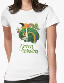 Green Thinking - love of Nature | Pensamiento en verde - amor por la Naturaleza Womens Fitted T-Shirt