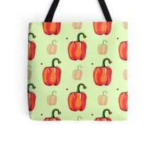 Red Pepper Seamless Pattern Tote Bag