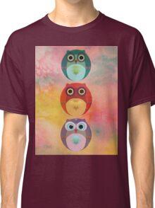 Three Little Owlets Classic T-Shirt