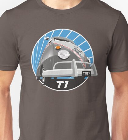 VW Type 2 Transporter T1 grey Unisex T-Shirt
