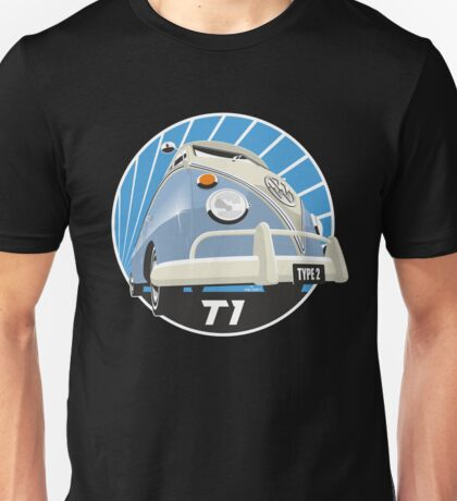 VW Type 2 Transporter T1 light blue Unisex T-Shirt