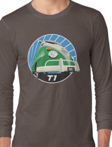 VW Type 2 Transporter T1 bright green Long Sleeve T-Shirt