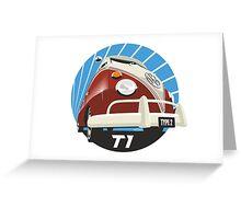 VW Type 2 Transporter T1 red Greeting Card