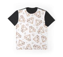Rose Gold Diamonds Graphic T-Shirt