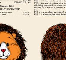 Brave Heart Lion Patent Sticker