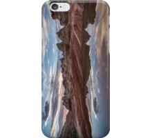 White Pocket Sunet iPhone Case/Skin
