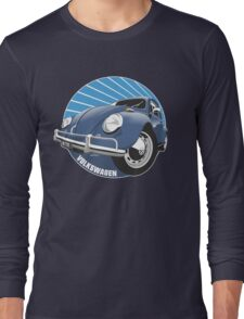 Sixties VW Beetle blue Long Sleeve T-Shirt