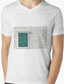 Closed shutters Mens V-Neck T-Shirt
