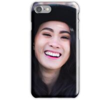 woman wearing a hat iPhone Case/Skin