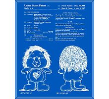 Brave Heart Lion Patent - Blueprint Photographic Print