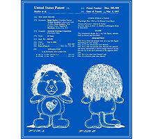 Brave Heart Lion Patent - Blueprint Photographic Print